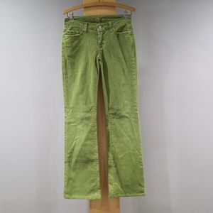 7 For All Mankind Corduroy Pants Size 27 Green
